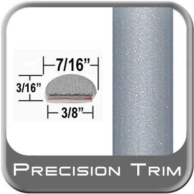 """7/16"""" Wide Wheel Molding Trim Silver (PT22) Sold by the Foot Precision Trim® #2150-22-01"""