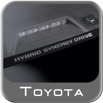 "Toyota Hybrid Window Sticker ""Toyota Synergy Drive"" White on Clear Sold Individually Genuine Toyota #PT747-00072"