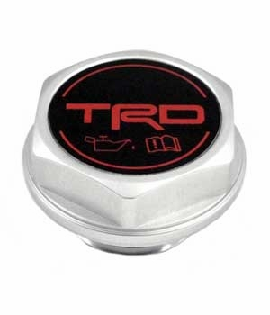 Toyota Oil Cap Billet Aluminum w/TRD Logo Threaded Screw-In Style Genuine Toyota #PTR35-00110