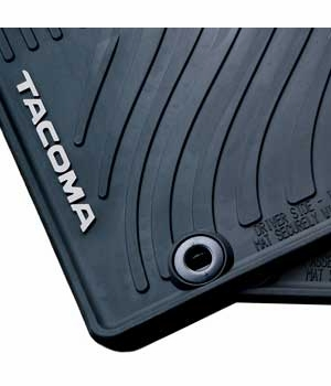 Toyota Tacoma Rubber Floor Mats 2012-2014 All-Weather Black 4-Piece Set Genuine Toyota #PT908-35122-20