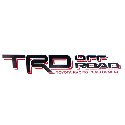 Genuine Toyota TRD Off Road Decal TRD OffRoad Quarter Panel Sticker Black w/ Red Sold Individually #PT211-TT980-02