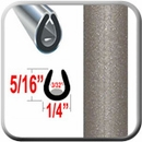 """U"" Style Beige Car Door Guards (PT14) Sold by the Foot Precision Trim® #1150-14-01"