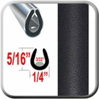 """U"" Style Black (Flat) Car Door Guards ( PT11 ), Sold by the Foot, Precision Trim® # 1150-11-01"