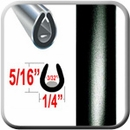 """U"" Style Black Car Door Guards (PT60) Sold by the Foot Precision Trim® #1150-60-01"