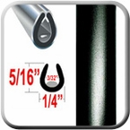 """U"" Style Black Car Door Guards ( PT60 ), Sold by the Foot, Precision Trim® # 1150-60-01"