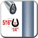 """U"" Style Blue (Light) Car Door Guards (PT30) Sold by the Foot Precision Trim® #1150-30-01"