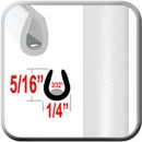"""U"" Style White Car Door Guards (PT10) Sold by the Foot Precision Trim® #1150-10-01"
