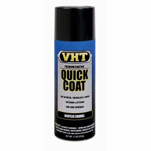 Gloss Black Quick Coat® Acrylic Enamel Spray Paint 11 ounce VHT #SP504