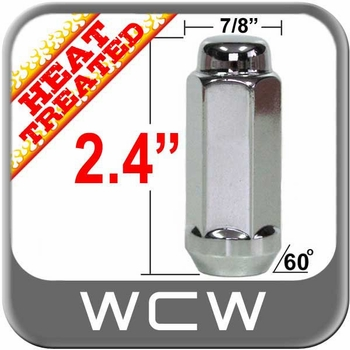 """West Coast Wheel® 9/16"""" x 18 Chrome Lug Nuts Tapered (60°) Seat Right Hand Thread Chrome Sold Individually #W7896XL"""