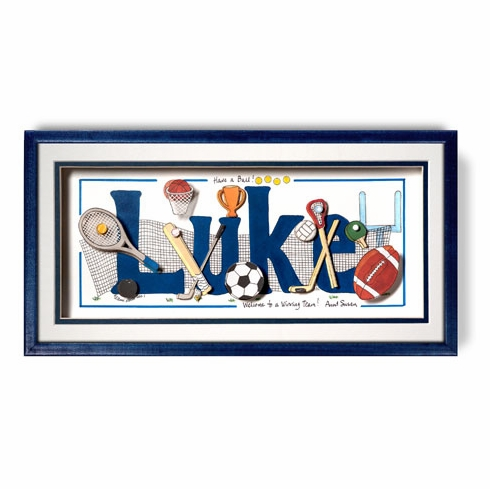 Personalized Sports Equipment Name Frame Free Shipping