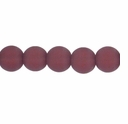 10mm Amethyst Frosted Round Glass Beads (32PK)