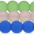10mm Frosted Round Glass Beads