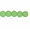 10mm Lt Green Frosted Round Glass Beads (32PK)