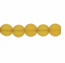 10mm Lt Topaz Frosted Round Glass Beads (32PK)