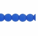 10mm Sapphire Frosted Round Glass Beads (32PK)