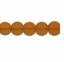 10mm Topaz Frosted Round Glass Beads (32PK)