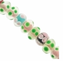 12mm Mixed Color Rondelle Lampwork Beads (1 Strand)