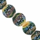 19mm Beige Green and Blue Disc Lampwork Beads (5PK)