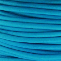 2mm Blue Cowhide Leather Cord 5 Meters