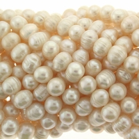 3-4mm White Rice Baroque Freshwater Pearls 16 Inch Strand