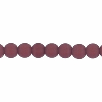 4mm Amethyst Frosted Round Glass Beads (75PK)