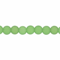 4mm Lt. Green Frosted Round Glass Beads (75PK)