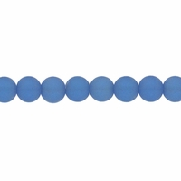 4mm Lt Sapphire Frosted Round Glass Beads (75PK)