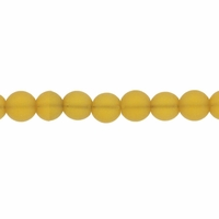 4mm Lt Topaz Frosted Round Glass Beads (75PK)