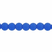 4mm Sapphire Frosted Round Glass Beads (75PK)