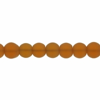 4mm Topaz Frosted Round Glass Beads (75PK)