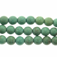 5-6mm Round Blue-Green  (IM)Turquoise  Beads 16 inch Strand