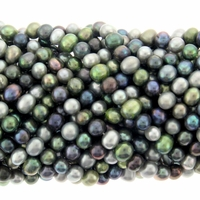 5mm Mixed Color Freshwater Pearl Bead Strand