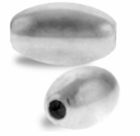 6 x 10mm Sterling Silver Smooth Oval Bead (1PC)
