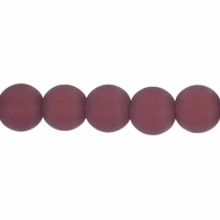 6mm Amethyst Frosted Round Glass Beads (54PK)