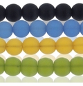 6mm Frosted Round Glass Beads