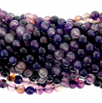 6mm Purple Faceted Agate Beads 16 Inch Strand