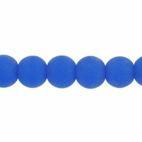 6mm Sapphire Frosted Round Glass Beads (54PK)
