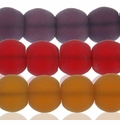 8mm Frosted Round Glass Beads