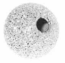 8mm Sterling Silver Stardust  Round Beads w/2mm hole  (1PC)