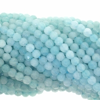 Amazonite 4mm Faceted Round Beads 15 Inch Strand