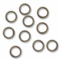 Antiqued Brass 5mm Closed Jump Rings (25PK)