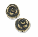Antiqued Brass 8mm Rose Bead (10PK)