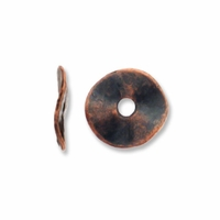 Antiqued Copper 10mm Wavy Disc Spacer Beads (20PK)