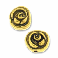 Antiqued Gold 8mm Rose Bead (10PK)