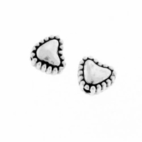Antiqued Silver 6mm Heart Spacer Beads (10PK)