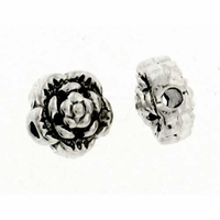 Antiqued Silver 7mm Flower Beads (10PK)