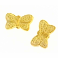 Bright Gold Plated 10x6mm Butterfly Bead (10PK)