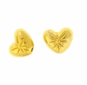 Bright Gold Plated 8x6mm Heart Bead (10PK)