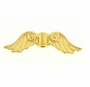 Bright Gold Plated Angel Wings Beads (10PK)