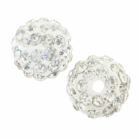 Glitze<sup>TM </sup>Crystal 10mm Crystal Rhinestone Pavé Epoxy Clay Round Bead (1PC)
